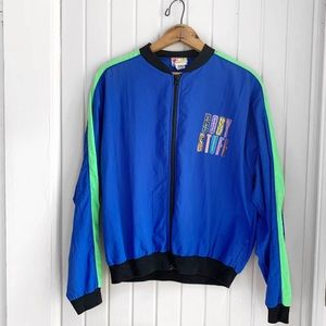"Vintage 90s ""Body Stuff"" Retro Blue Jacket"